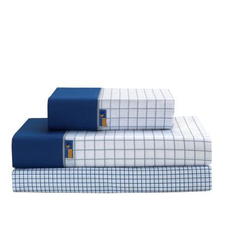 Juego de sábanas Checks azul