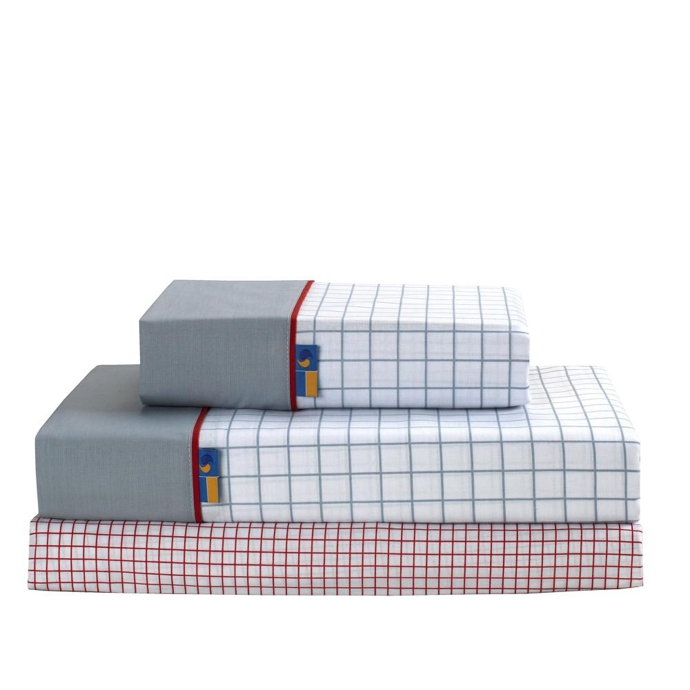 Juego de sábanas Checks rojo