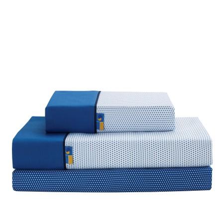 Juego de sábanas Mota azul