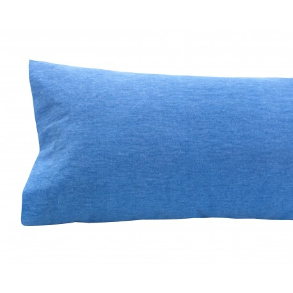 Funda de Almohada de Franela Azul
