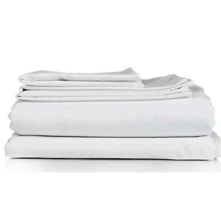 Juego de sábanas blancas de Hostelería (disponible en varias medidas)