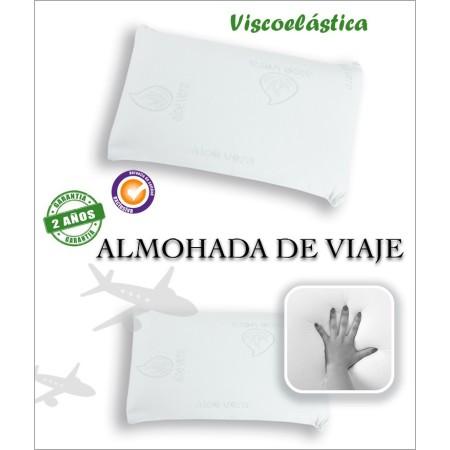 Almohada de viaje viscoelástica Aloe Vera