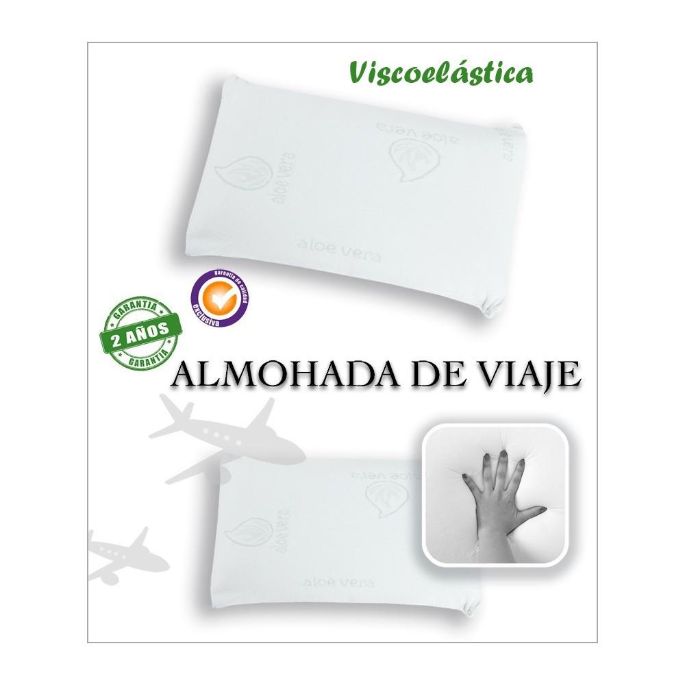 ALMOHADA VISCOELASTICA DE VIAJE ALOE VERA