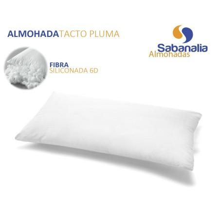 Almohada de fibra tacto pluma (disponible en varios tamaños)